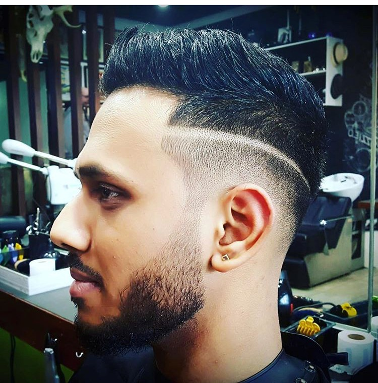 amazing barber fade cut line style